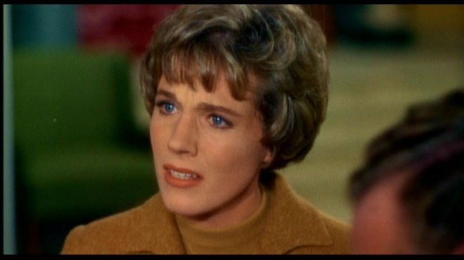 Julie Andrews utters the worst line of dialogue in the movie.